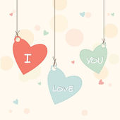 Heart shape tag with text for Valentine's Day. — Stock Vector
