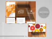 Professional trifold brochure, catalog and flyer template for bu — Stock Vector