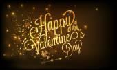 Happy Valentines Day celebration poster. — Stock Vector