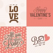 Typographic collection for Valentines Day celebration. — Wektor stockowy