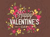 Poster, banner or flyer for Valentines Day celebration. — Stock Vector