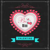 Greeting card design for Happy Valentines Day celebration. — Stock vektor