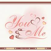 Greeting card design for Happy Valentines Day celebration. — Vettoriale Stock