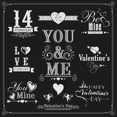 Typographic collection for Happy Valentines Day. — Wektor stockowy