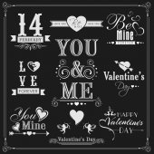 Typographic collection for Happy Valentines Day. — Stockvektor