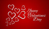 Happy Valentine's Day celebration greeting card. — Stock vektor