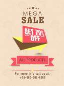 Sale flyer, banner or template design. — Vector de stock