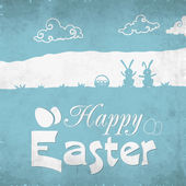 Greeting card design for Happy Easter celebration. — Stock Vector