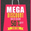 End of season sale flyer, banner or template. — Stock Vector #64909167