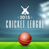 Red ball for Cricket League. — Stock Vector
