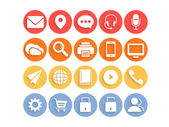 Web mail and networking icons. — Stock Vector