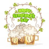 Greeting card design for St. Patrick's Day celebration. — Stock Vector