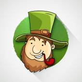 Cute leprechaun for Happy St. Patrick's Day celebration. — Stock Vector