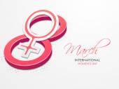 3D number 8 for International Women's Day celebration. — Stock Vector
