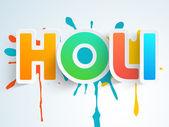 Klistermärke, tagg eller etikett för indiska festival, Holi fest. — Stockvektor