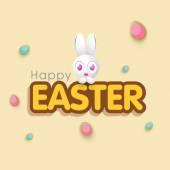 Greeting card design for Happy Easter celebration. — Stock vektor