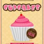 Flyer or menu card for cupcake corner. — Stock Vector #65762337