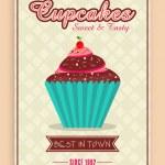 Flyer or menu card for cupcake corner. — Stock Vector #65762351