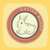 Rubber stamp for Happy Easter celebration. — Stock Vector
