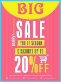 End of season sale flyer or banner. — Stock Vector