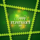 St. Patrick's Day celebration greeting or invitation card. — Vettoriale Stock