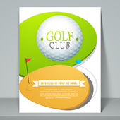 Concept of golf club flyer or template. — Stock Vector