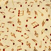 Musical notes with seamless pattern. — Stock Vector