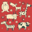 Set of animal characters. — Vetor de Stock  #67866175