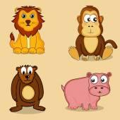 Set of wild animals. — Stock Vector
