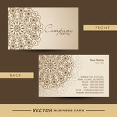 Professional business or visiting card set. — Stock Vector