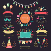 Set of party elements. — Stock Vector