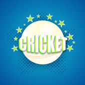 Stylish text with ball for Cricket. — ストックベクタ