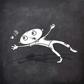 Cartoon boy with ball for Cricket concept. — Stock Vector