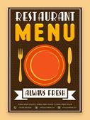 Menu card design for restaurant. — Stock Vector