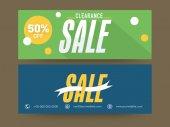 Website header or banner set for sale. — Stock Vector