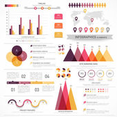 Set of infographics elements for business. — Stock Vector