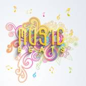 Music concept with musical notes. — Stock Vector