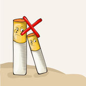 No Smoking Day concept with cigarette. — Stock Vector