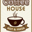 Menu card design for coffee house. — Stock Vector #68665805
