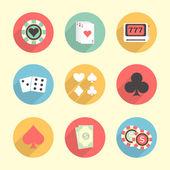 Set of Casino elements. — Stock Vector