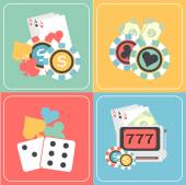 Set of Casino elements. — Stock Vector