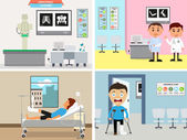Set of doctor's workplace. — Stock Vector