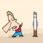 No Smoking Day concept with funny cartoon. — Stock Vector
