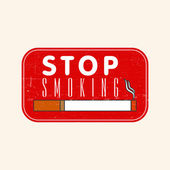 Rubber stamp for No Smoking Day. — Stock Vector
