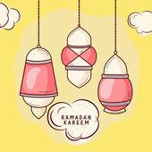 Ramadan Kareem celebration greeting card. — Stockvector