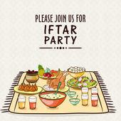 Ramadan Kareem Iftar party celebration. — Stock Vector