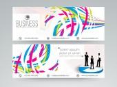 Professional business website header or banner. — Stock Vector
