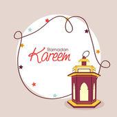 Cartolina d'auguri di Ramadan kareem celebrazione. — Vettoriale Stock
