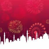 Muslim community festival, Eid Mubarak celebration. — Stock Vector