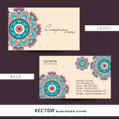 Floral business or visiting card design. — Stock Vector
